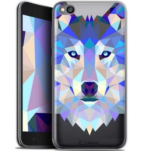 "Extra Slim Gel Xiaomi Redmi Go (5"") Case Polygon Animals Wolf"