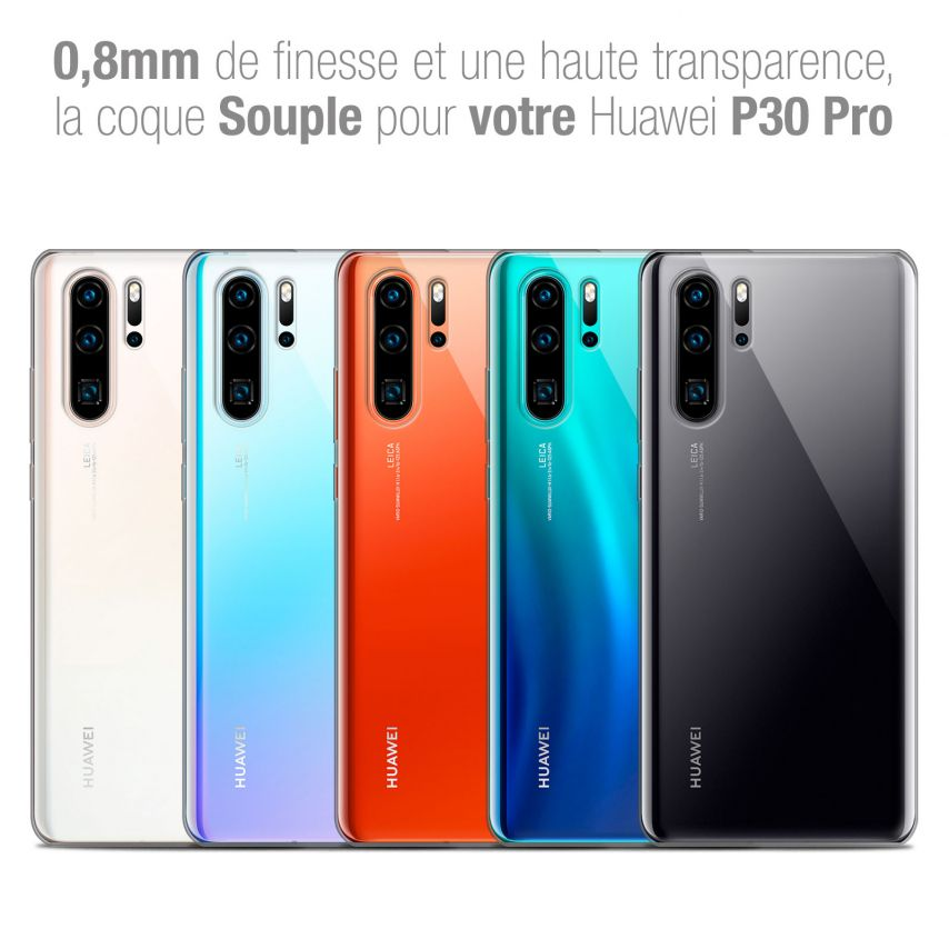 """Extra Slim 1mm Crystal Clear P30 Pro Flexible Case Huawei P30 Pro (6.47"""")"""