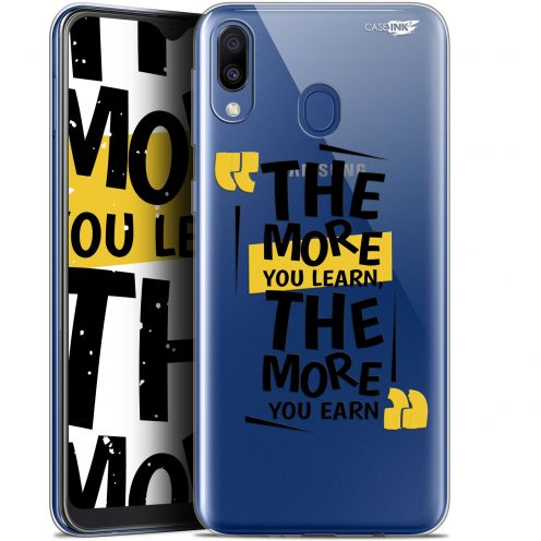 """Extra Slim Gel Samsung Galaxy M20 (6.3"""") Case Design The More You Learn"""