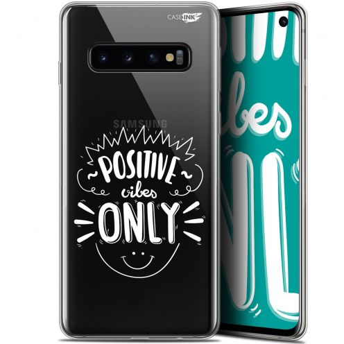 "Extra Slim Gel Samsung Galaxy S10 (6.1"") Case Design Positive Vibes Only"