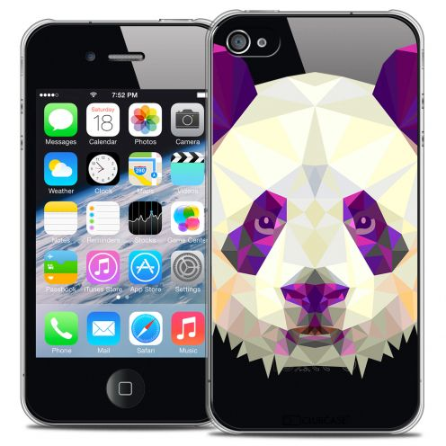 Extra Slim Crystal iPhone 4/4S Case Polygon Animals Panda