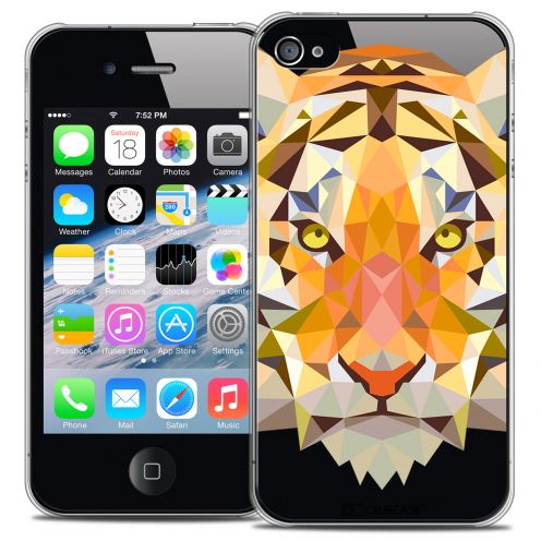 Extra Slim Crystal iPhone 4/4S Case Polygon Animals Tiger