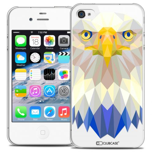 Extra Slim Crystal iPhone 4/4S Case Polygon Animals Eagle