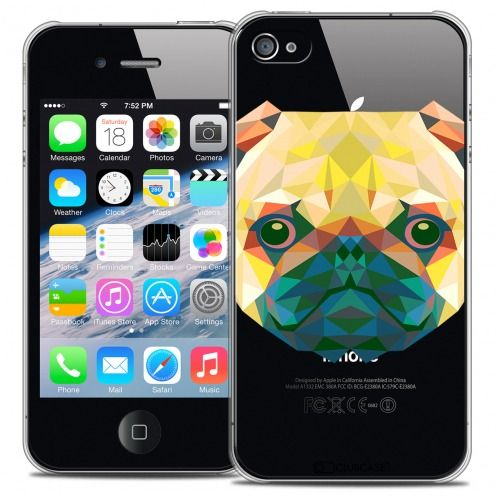 Extra Slim Crystal iPhone 4/4S Case Polygon Animals Dog