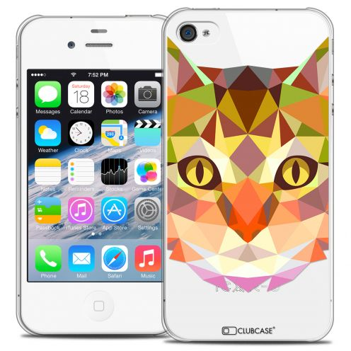 Extra Slim Crystal iPhone 4/4S Case Polygon Animals Cat