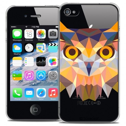 Extra Slim Crystal iPhone 4/4S Case Polygon Animals Owl