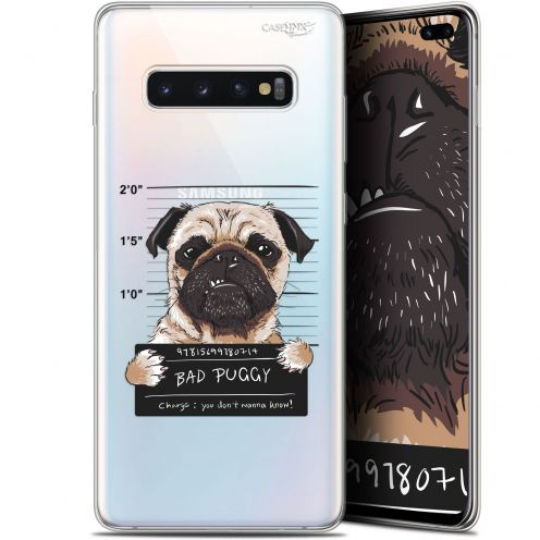 "Extra Slim Gel Samsung Galaxy S10+ (6.4"") Case Design Beware The Puggy Dog"
