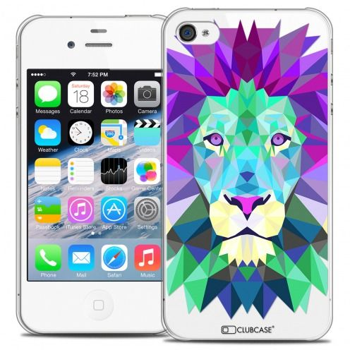 Extra Slim Crystal iPhone 4/4S Case Polygon Animals Lion