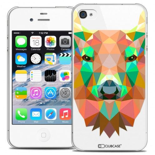 Extra Slim Crystal iPhone 4/4S Case Polygon Animals Deer