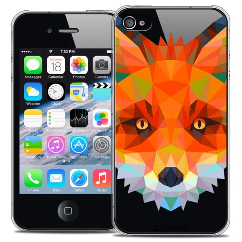 Extra Slim Crystal iPhone 4/4S Case Polygon Animals Fox