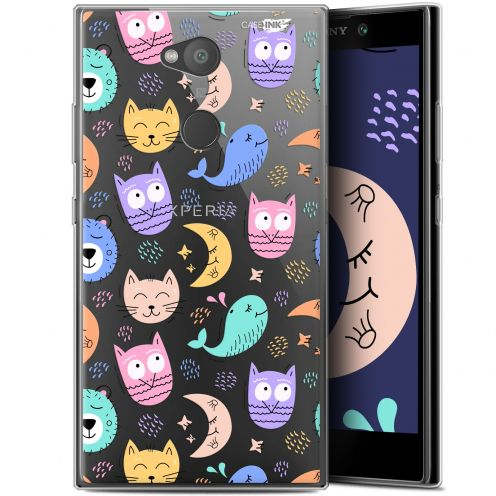 "Extra Slim Gel Sony Xperia L2 (5.5"") Case Design Chat Hibou"