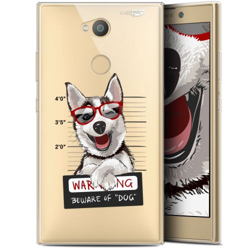 "Extra Slim Gel Sony Xperia L2 (5.5"") Case Design Beware The Husky Dog"
