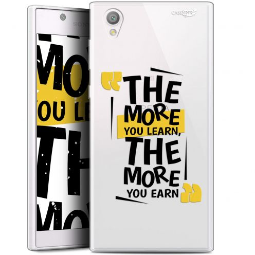 """Extra Slim Gel Sony Xperia L1 (5.5"""") Case Design The More You Learn"""