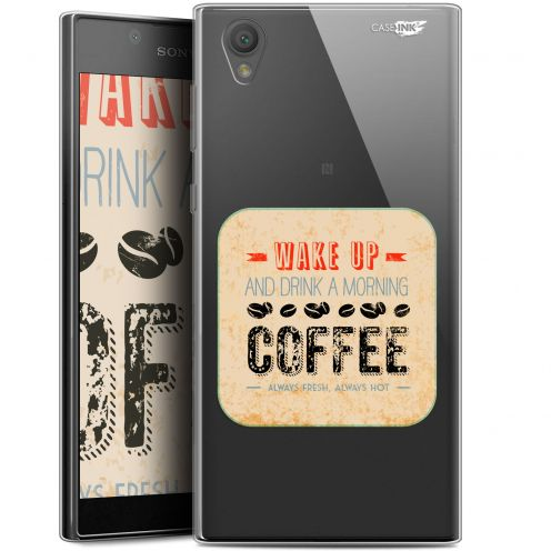 "Extra Slim Gel Sony Xperia L1 (5.5"") Case Design Wake Up With Coffee"