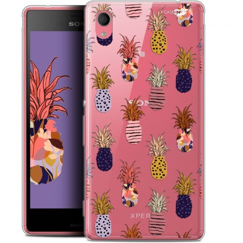 "Extra Slim Gel Sony Xperia M4 Aqua (5"") Case Design Ananas Gold"