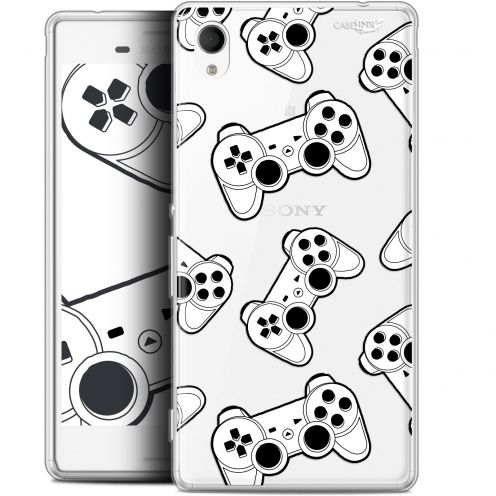 "Extra Slim Gel Sony Xperia M4 Aqua (5"") Case Design Game Play Joysticks"