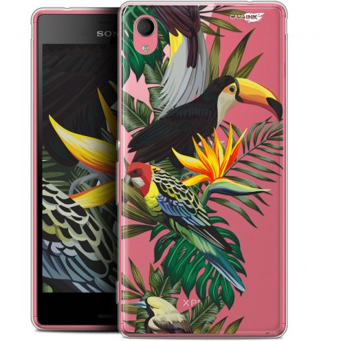 "Extra Slim Gel Sony Xperia M4 Aqua (5"") Case Design Toucan Tropical"