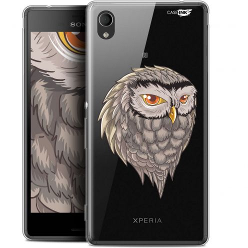 "Extra Slim Gel Sony Xperia M4 Aqua (5"") Case Design Hibou Draw"