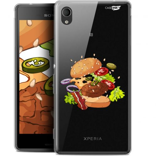 "Extra Slim Gel Sony Xperia M4 Aqua (5"") Case Design Splash Burger"