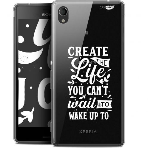 "Extra Slim Gel Sony Xperia M4 Aqua (5"") Case Design Wake Up Your Life"