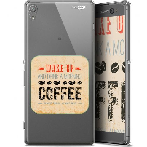 "Extra Slim Gel Sony Xperia XA Ultra (6"") Case Design Wake Up With Coffee"