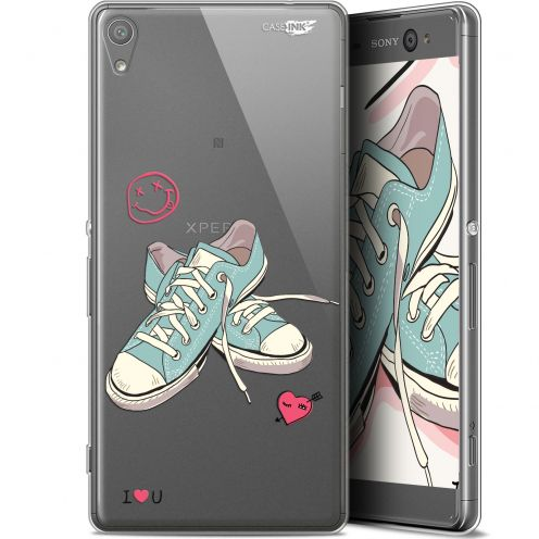 "Extra Slim Gel Sony Xperia XA Ultra (6"") Case Design Mes Sneakers d'Amour"