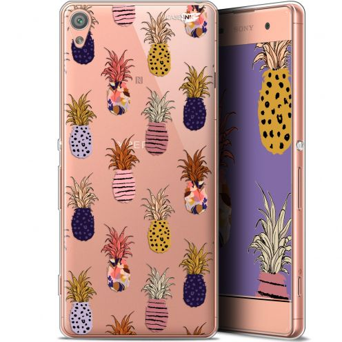 "Extra Slim Gel Sony Xperia XA (5"") Case Design Ananas Gold"