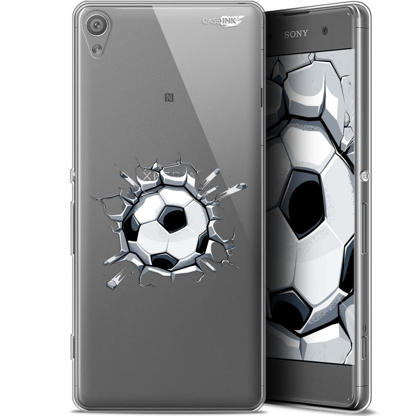 "Extra Slim Gel Sony Xperia XA (5"") Case Design Le Balon de Foot"
