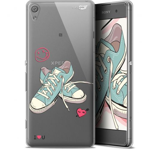 """Extra Slim Gel Sony Xperia XA (5"""") Case Design Mes Sneakers d'Amour"""