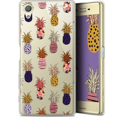 "Extra Slim Gel Sony Xperia X (5"") Case Design Ananas Gold"