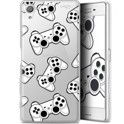 "Extra Slim Gel Sony Xperia X (5"") Case Design Game Play Joysticks"