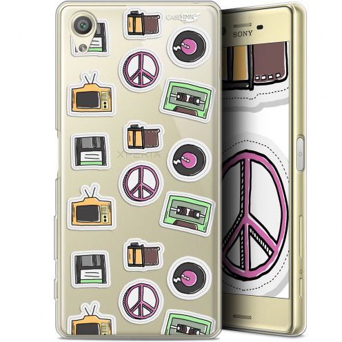 "Extra Slim Gel Sony Xperia X (5"") Case Design Vintage Stickers"