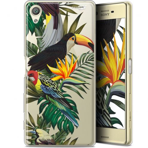 "Extra Slim Gel Sony Xperia X (5"") Case Design Toucan Tropical"