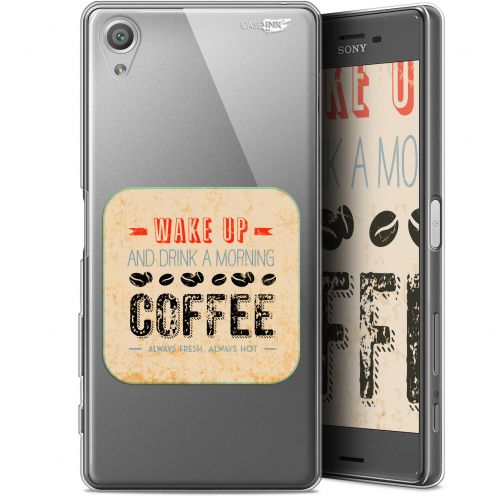 "Extra Slim Gel Sony Xperia X (5"") Case Design Wake Up With Coffee"
