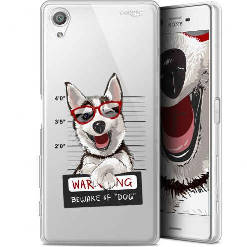 "Extra Slim Gel Sony Xperia X (5"") Case Design Beware The Husky Dog"