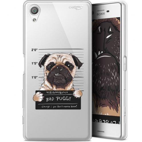 "Extra Slim Gel Sony Xperia X (5"") Case Design Beware The Puggy Dog"