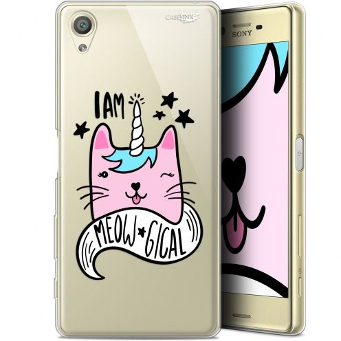 "Extra Slim Gel Sony Xperia X (5"") Case Design I Am MEOUgical"