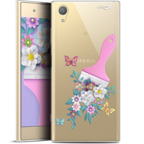 "Extra Slim Gel Sony Xperia XA1 PLUS (5.5"") Case Design Pinceau à Fleurs"