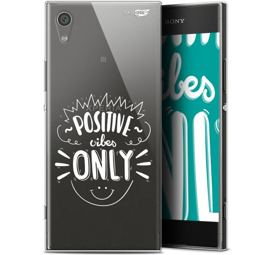 "Extra Slim Gel Sony Xperia XA1 (5"") Case Design Positive Vibes Only"