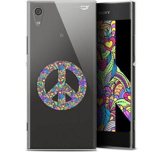 "Extra Slim Gel Sony Xperia XA1 (5"") Case Design Peace And Love"
