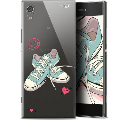 "Extra Slim Gel Sony Xperia XA1 (5"") Case Design Mes Sneakers d'Amour"