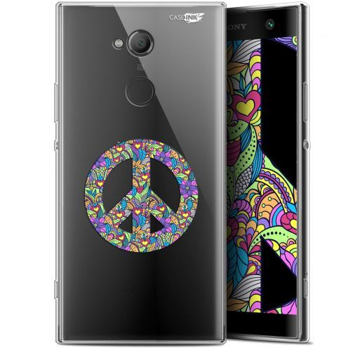"Extra Slim Gel Sony Xperia XA2 ULTRA (6"") Case Design Peace And Love"