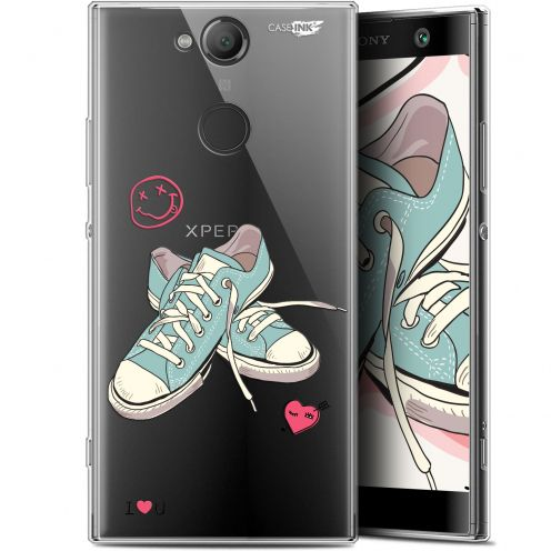 """Extra Slim Gel Sony Xperia XA2 (5.2"""") Case Design Mes Sneakers d'Amour"""