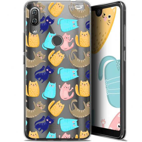 "Extra Slim Gel Wiko View 2 Pro (6"") Case Design Chat Danse"