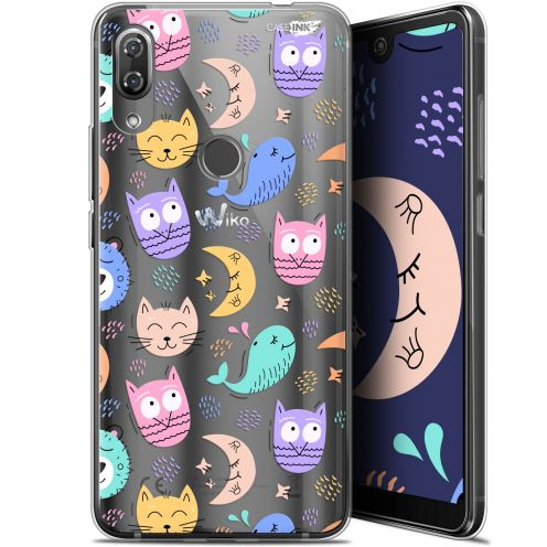 "Extra Slim Gel Wiko View 2 Pro (6"") Case Design Chat Hibou"