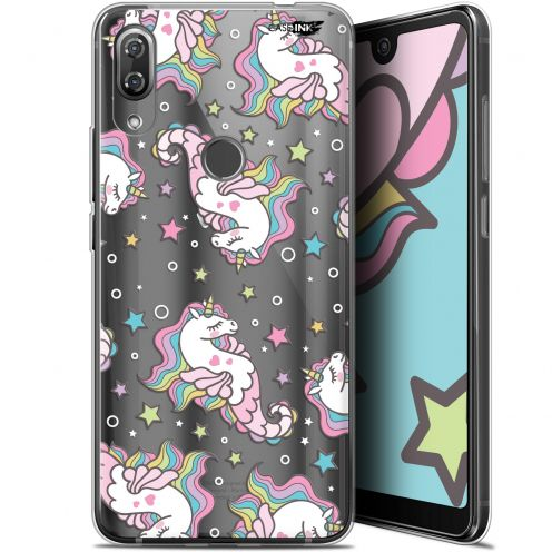 "Extra Slim Gel Wiko View 2 Pro (6"") Case Design Licorne Dormante"