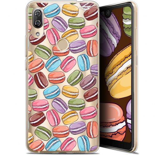 "Extra Slim Gel Wiko View 2 Pro (6"") Case Design Macarons"