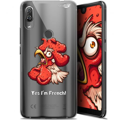 """Extra Slim Gel Wiko View 2 Pro (6"""") Case Design I'm French Coq"""