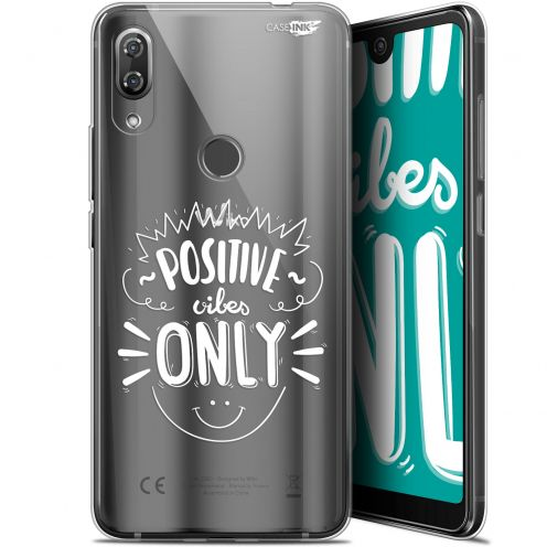 """Extra Slim Gel Wiko View 2 Pro (6"""") Case Design Positive Vibes Only"""