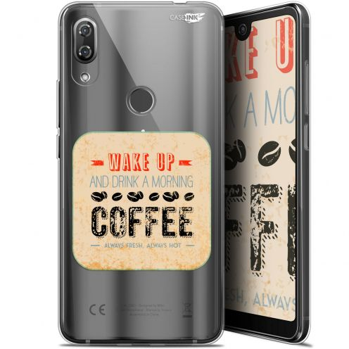 """Extra Slim Gel Wiko View 2 Pro (6"""") Case Design Wake Up With Coffee"""